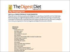 Digest Diet Shopping Lists