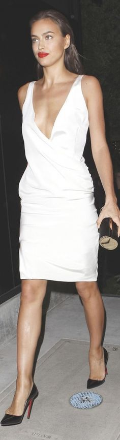 Irina Shayk - LOVE WHITE DRESSES