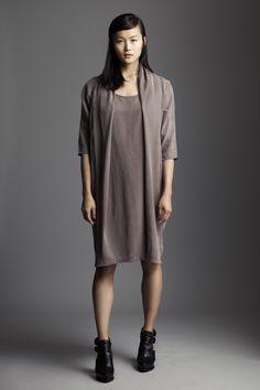 Draped dress, elegant & casual wear by Maayan Paz
