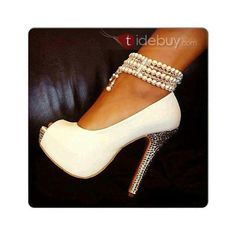 Online shopping pretty bridal shoes to match your perfect wedding dresses, Shoespie supplies cheap comfortable wedding shoes and various styles sexy high heels to sale for bride and women. Ankle Strap High Heels, Peep Toe Heels, Stiletto Heels, Shoes Heels, Sexy Heels, Fab Shoes, Cheap High Heels, Womens High Heels, Stilettos