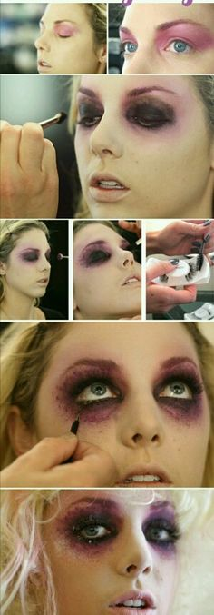 Halloween-Make-up-Take your fairy costume to the next level with this twisted fairy makeup tutorial. Maquillage Halloween Zombie, Maquillaje Halloween Tutorial, Maquillaje Diy, Halloween Look, Amazing Halloween Makeup, Women Halloween, Diy Halloween Zombie Costumes, Halloween Makeup Tutorials, Zombie Halloween Costumes