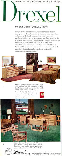 DREXEL 1954 Precedent - EDWARD WORMLEY - Woman's Home Companion Feb 1954
