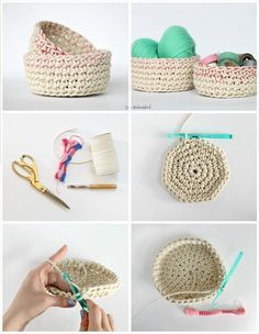 Crochet For Beginners chunky crochet basket free pattern - Presenting here these 10 free crochet basket patterns for beginners, referred as cozy storage solutions for your home! The perfect shapes, the soft to touch Crochet Basket Tutorial, Beginner Crochet Tutorial, Crochet For Beginners Blanket, Crochet Basket Pattern, Knit Basket, Crochet Instructions, Crochet Patterns For Beginners, Crochet Baskets, Basket Weaving