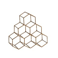 Madam Stoltz Hexagonal Brushed Gold Wine Rack: The brushed gold honeycomb wine rack is free-standing & slots into shelving or the fridge. Multiples can be used stacked to extend your wine collection! House Doctor, Cork Holder, Wine Collection, Wine Bottle Holders, Wine Bottles, In Vino Veritas, Hexagon Shape, 5 W, Shabby Vintage