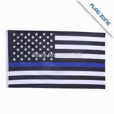 をblueline米国警察フラグ、3による5足薄いブルーライン米国旗黒、レッドライン旗、付き真鍮グロメットepacketドロップ無料