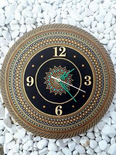 Check out this item in my Etsy shop https://www.etsy.com/listing/574147703/mandala-wall-clock-unique-hand-painted