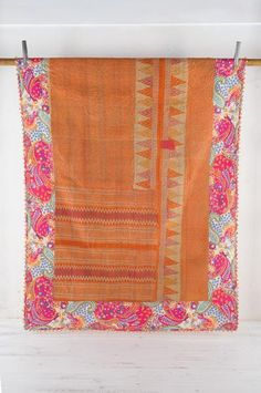 Energy Vintage Fusion Kantha Quilt - One Off