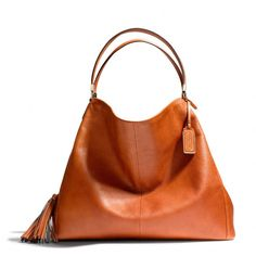 The Madison Large Phoebe Shoulder Bag In Buffalo Embossed Leather from Coach