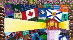 Sixty hand-painted murals were commissioned this year by a Toronto charity called Vibe Arts to celebrate Canada's 150 and get youth, from every province and territory, involved in the arts through their 150 Reasons We Love Canada project.