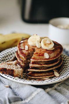 Banana oatmeal blender pancakes