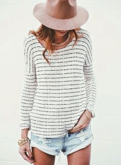LoLoBu - Women look, Fashion and Style Ideas and Inspiration, Dress and Skirt Look Style Casual, Style Me, Casual Chic, Denim Style, Surf Style, Comfy Casual, Summer Outfits, Casual Outfits, Vacation Outfits