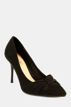 Knot Court Wedge Heels, Block Heels, Knot, Kitten Heels, Wedges, Pumps, Lady, Clothes, Shoes