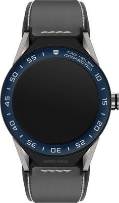 @tagheuer Watch Connected Modular 45 Smartwatch #bezel-fixed #bracelet-strap-leather #brand-tag-heuer #case-depth-13-75mm #case-material-titanium #case-width-45mm #delivery-timescale-call-us #description-done #dial-colour-lcd #gender-mens #luxury #movemen