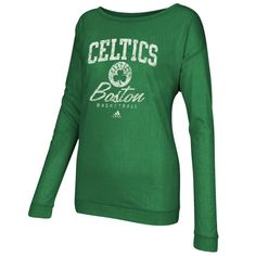adidas Boston Celtics Ladies Slouchy Athletic Long Sleeve T-Shirt - Kelly Green.....I need this