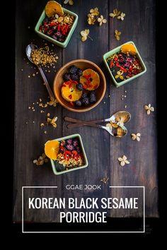 Black sesame matcha banana bread foodgawker recipes pinterest korean black sesame porridge ggae jook one of my favorite asian porridge forumfinder Gallery