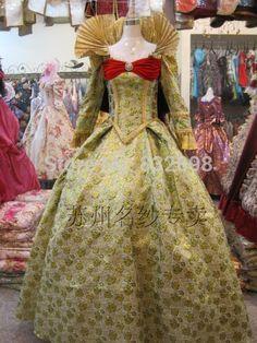 Pas cher 17 du 18ème siècle cour européenne Marie   Antoinette Baroque Rococo robe robe de scène Costumes de fête, Acheter  Habits de qualité directement des fournisseurs de Chine:            Mesure:            La taille de robe font selon vos mesures, s'il vous plaît nous donner vos mesures