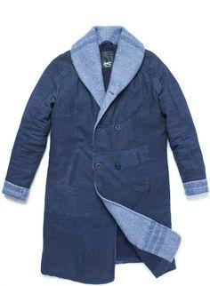 re-cut kendo coat denham jeans long john blog re-use blankets vintage fall winter 2015 jas jack jacket recycle blue indigo rags selvage selvedge jason denham amsterdam collection denim (3)