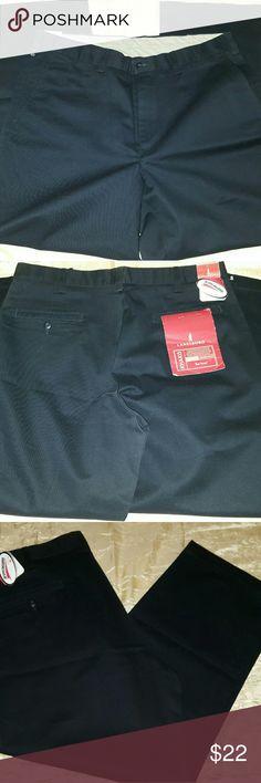 Men's Lanesboro Khaki Dress Pants, NWT, Black 36 x29, Black, New w/ Tags, Expandable Waist, Stain Resistant Lanesboro Pants