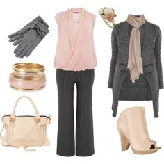****Petal pink and Gray*** love this, would have to wear flats though.