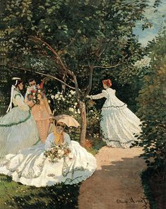 Artist: Monet, Claude Ladies in the garden. Found in the collection of Musée d'Orsay, Paris. (Photo by Fine Art Images/Heritage Images/Getty Images) Arte Van Gogh, Renoir Paintings, Illustration Noel, Garden Painting, Art Hoe, Impressionist Paintings, Famous Art, Classical Art, Art Inspo
