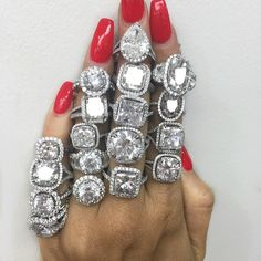 "Bhjewelers.com  Wowwwww    ""I'll take two of each please! #bhjewelers #diamonds #diamondring #wedding #engagementring…"""