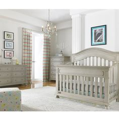 30% off Crib/Dresser today - Naples Arched Convertible Crib Grey Satin