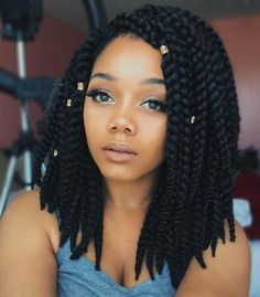 Medium Length Thick Box Braids