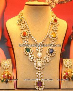 Two Layer Navaratan Kundan Set - Jewellery Designs