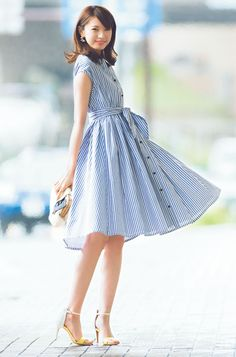 Forever in Style - Beauty and Fashion through the centuries Japanese Models, Japanese Fashion, Asian Fashion, Girl Fashion, Fashion Dresses, Womens Fashion, Cute Dresses, Cute Outfits, Mode Style