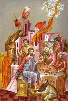 The Anointing of The Lord's Feet at Simon's house.