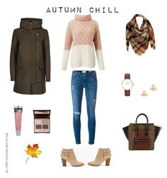 """AUTUMN CHILL"" by lipstick-and-loathing on Polyvore featuring Frame Denim, Miss Selfridge, White House Black Market, Sessùn, Sylvia Alexander, CÉLINE, Daniel Wellington, Vivienne Westwood, Burt's Bees and Charlotte Tilbury"