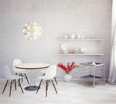 This dining space has a wood look porcelain tile calle White. Thre is a variety of colors and textures available. There is also stone look porcelain tile available. Interior S, Interior Design, Timber Tiles, Outdoor Flooring, White Porcelain, Porcelain Tiles, Scandinavian Style, Mosaic Glass, Tricks