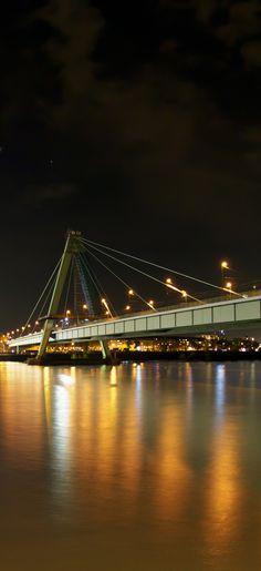 Köln | Severinsbrücke und Südbrücke bei Nacht