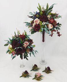 Flower Bouquet Wedding, Dusty Pink, Pink Flowers, Floral Wreath, Burgundy, Wreaths, Bridal, Dusty Rose, Flower Crowns
