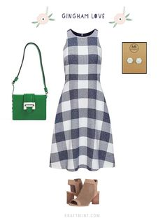 Summer dresses to love Summer Fashion Outfits, Summer Outfits Women, Curvy Outfits, Plus Size Outfits, Cute Summer Dresses, Day Dresses, Curvey Women, I Dress, Gingham