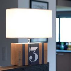 Lampe grise ardoise L34