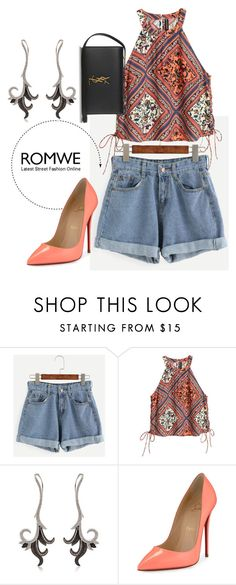 """""""....."""" by erna-pozderovic ❤ liked on Polyvore featuring H&M, JoÃ«lle Jewellery, Christian Louboutin and Yves Saint Laurent"""