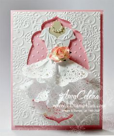 All Dressed Up Wedding Card | love this, great idea for Couture Creations Doily Dies