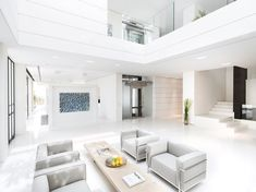 Luxury white, grey, silver modern contemporary  Villa Chameleon   HomeDSGN