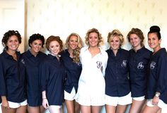 Personalized Bridal Party Get Ready Shirts make such a beautiful and practical gift for your bridesmaids!