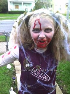 Day 7 cheerleader diy halloween costume tutorial always under coolest zombie cheerleader costume solutioingenieria Gallery