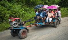 Public transport in the rural/farm areas of the Philippines :)   Kuliglig