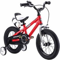 Toddler Youth Bike Red Training Wheels Enclosed Chain Bell Juvenile Saddle Best  #Royalbaby