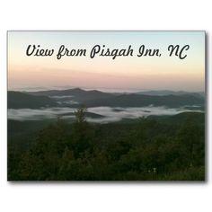 View from Pisgah Inn, NC - Post Card