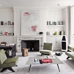 """Parisian, Parisian, Parisian."" That is how en-vogue architect Joseph Dirand introduces his elegant Paris apartment. Take a closer look now on the magazine. #josephdirand #architecture #interiordesign #paris #opumo"