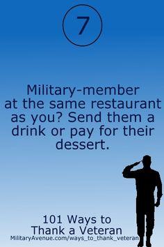 101 Ways to Thank a Veteran from @MilitaryAvenue.com.com.com.com - http://www.militaryavenue.com/ways_to_thank_veteran