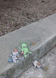 Chalk Art by David Zinn