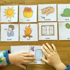 Otis with mini books - Make Montessori book DYI