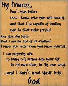 i am trusting God.