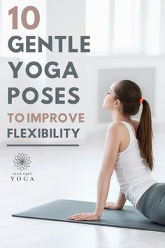 Increase your overall flexibility with these 10 yoga stretches for beginners that will start to relax your muscles and allow them to stretch and lengthen. Yoga Stretches For Beginners, Beginner Yoga Workout, Yoga Tips, Yoga Routine For Beginners, Morning Yoga Routine, Morning Yoga Stretches, Yoga Routines, Yoga Poses For Two, Cool Yoga Poses